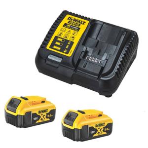 Dewalt DCB115P2 Energy Kit DCB115 Charger and 2x  DCB184 18V 5Ah Li-ion Batteries