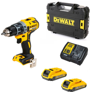Dewalt DCD791D2 18V Brushless Drill Driver with 2x 2Ah Batteries, Charger and Case