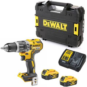 Dewalt DCD796P2 18v XR Brushless Combi Drill inc 2x 5.0Ah Batteries, Multi Voltage Charger and TSTAK Carry Case