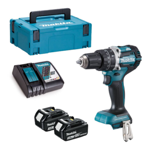 Makita DHP484RFJ 18v Brushless Combi Drill with 2x 3Ah, Charger and Makpac Case