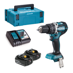 Makita DHP484RTJ 18v Brushless Combi Drill with 2x 5Ah, Charger and Makpac Case