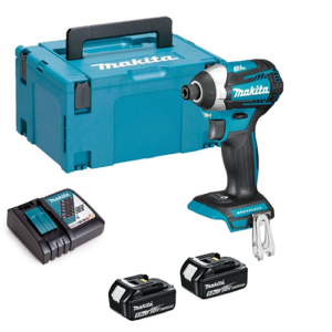 Makita DTD154RTJ 18v Brushless Impact Driver with 2x 5Ah Batteries, Charger and Case