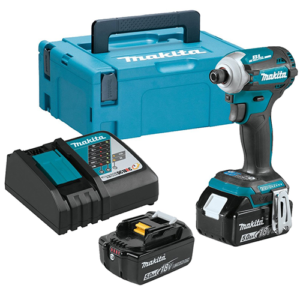 """Makita DTD171RTJ Impact Driver 2x 18V 5Ah  Li-ion Batteries 1/4"""" Hex Drive Charger and Case"""