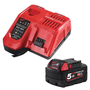 Milwaukee M18NRG-501 Energy Pack M12-18FC Fast Charger and M18B5 5Ah Battery